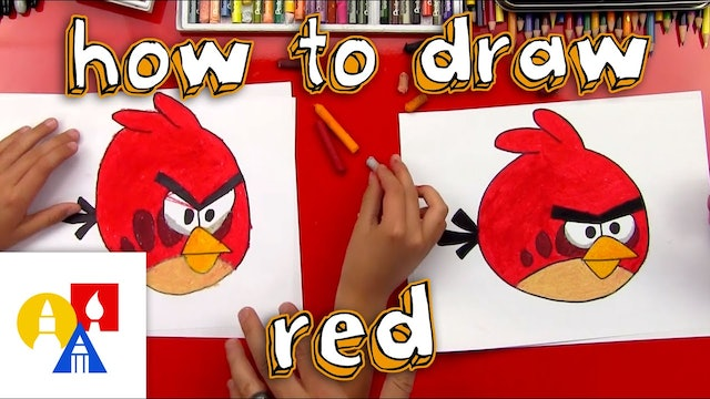 How To Draw Red The Angry Bird
