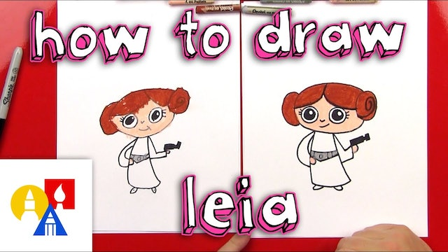 How To Draw A Cartoon Princess Leia From Star Wars