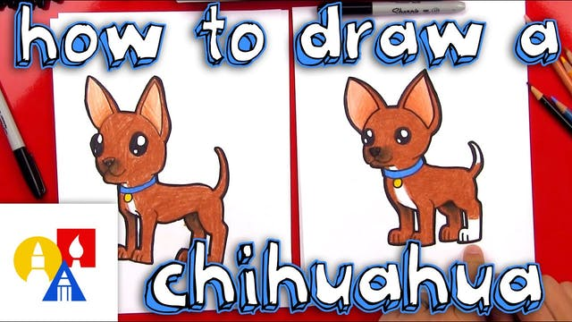 How To Draw A Cartoon Chihuahua