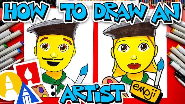 How To Draw An Artist Emoji 👨🎨👩🎨