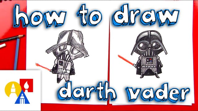How To Draw A Cartoon Darth Vader