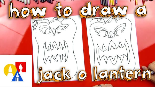 How To Draw A 3D Jack O'Lantern