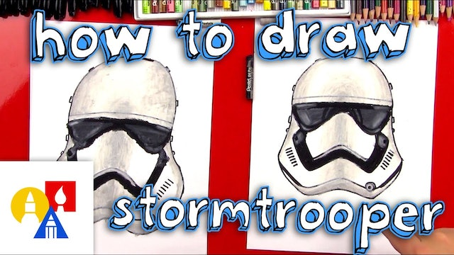 How To Draw A First Order Stormtrooper Helmet From Star Wars