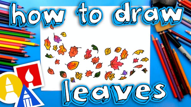 How To Draw Leaves Blowing In The Wind