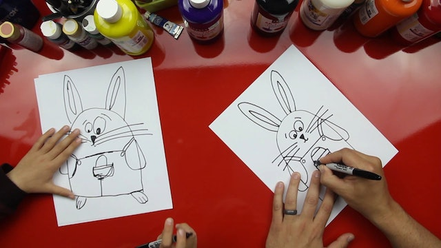 How To Draw The Easter Bunny (Cartoon)