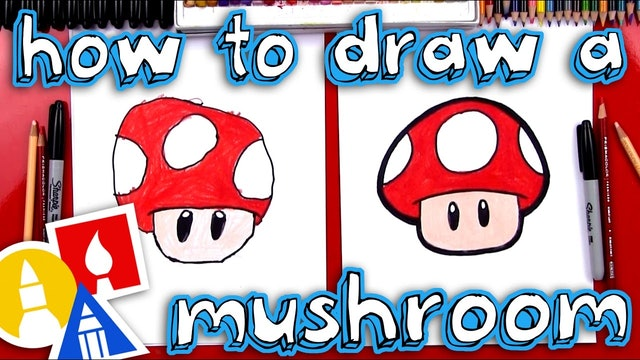 How To Draw A Mario Mushroom