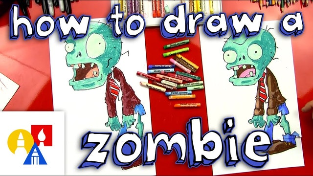 How To Draw A Zombie - Plants vs Zombies