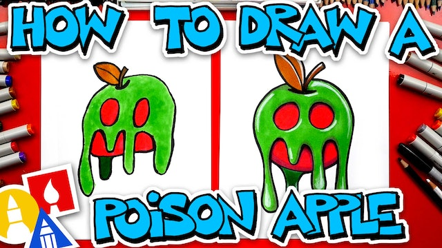 How To Draw A Poison Apple