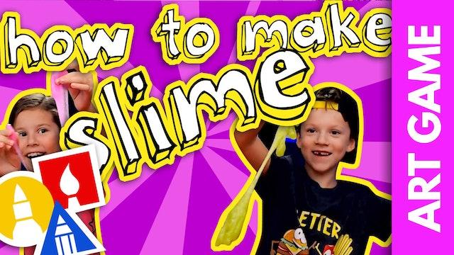 ART GAME: How To Make Slime + Slime Sculpting Challenge