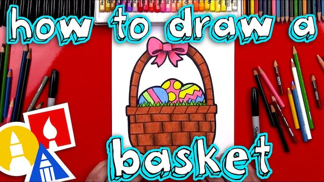 How To Draw An Easter Basket