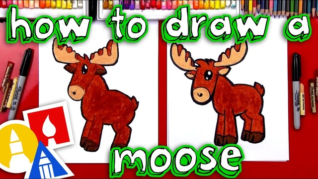 How To Draw A Cartoon Moose