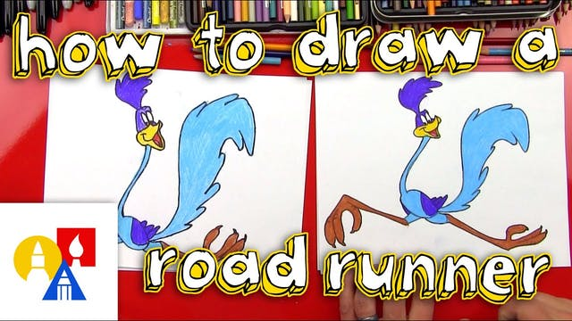 How To Draw A Road Runner