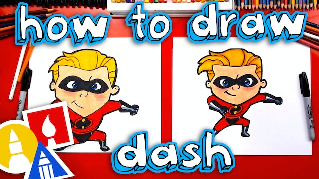 How To Draw Dash From Incredibles 2