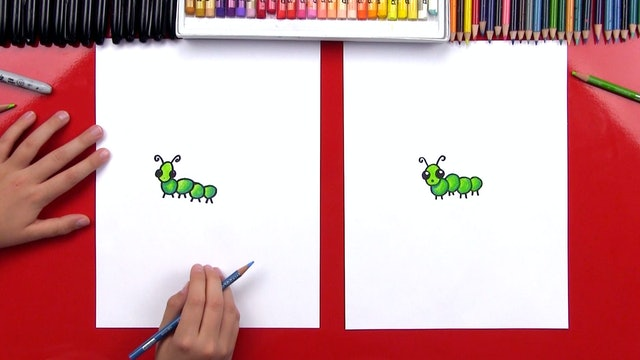 How To Draw A Simple Caterpillar For Young Artists