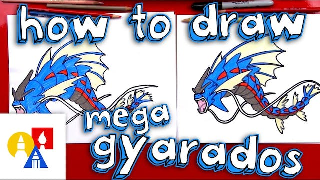 How To Draw Mega Gyarados Pokemon