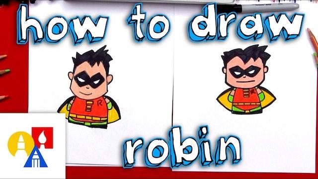 How To Draw Cartoon Robin