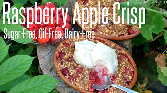 Sugar-Free Raspberry Apple Crisp - No...