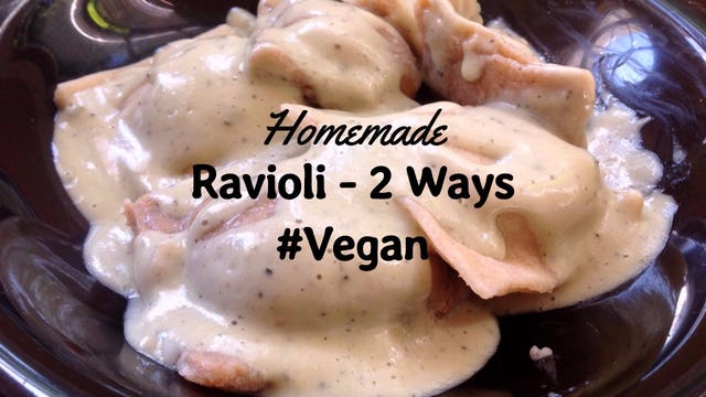 Homemade Ravioli Recipe 2 ways ft. Pumpkin Sage Ravioli in a Cream Sauce (VEGAN