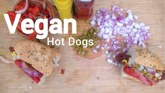 VEGAN Hot Dogs - Chickpea Hot Dogs (#hotchicks) - Vegan & GF with Soy and Oil-Free Options