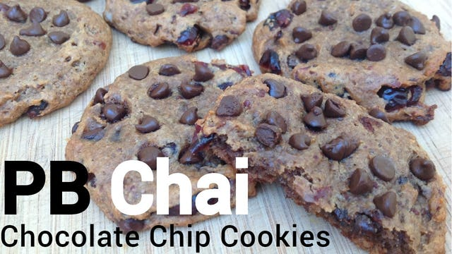 PB Chai Chocolate Chip Cookies