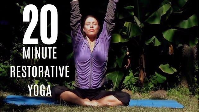 20 Minute Restorative Yoga Practice (Gentle, Relaxing, Healing)