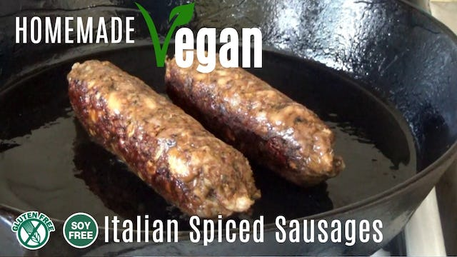 Homemade Vegan Italian Spiced Sausages | My take on Tofurky Italian Sausages