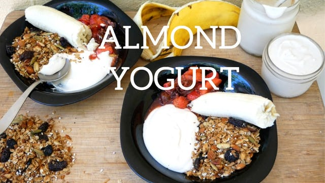 How to Make Almond Yogurt - Homemade Dairy Free Alternative