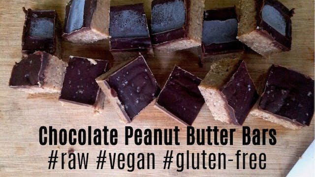 Chocolate Peanut Butter Bars | #Raw #...