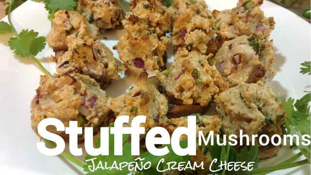 Jalapeño Cream Cheese Stuffed Mushrooms