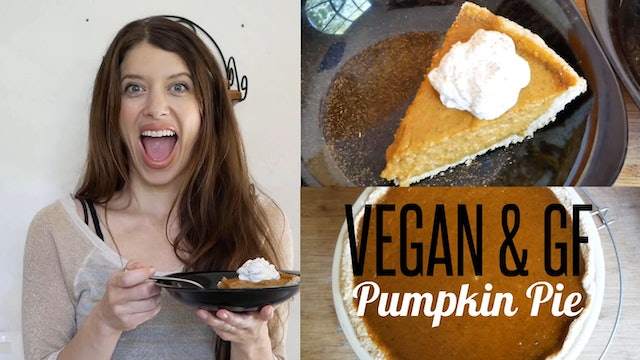 Vegan & GF Pumpkin Pie - Press, Pour & Bake