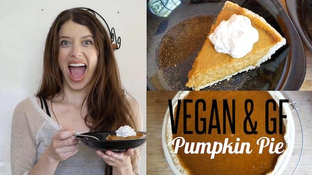 Vegan & GF Pumpkin Pie - Press, Pour & Bake