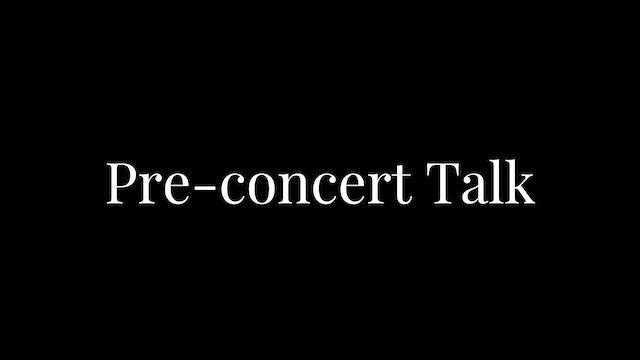 Parisian Classics - Pre-concert Talk