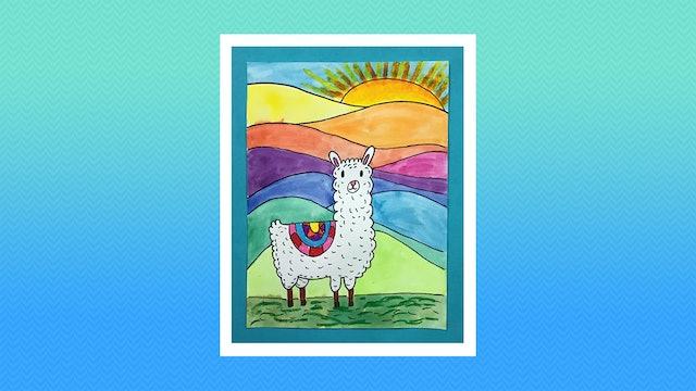 Rainbow Llama - Grades K-2