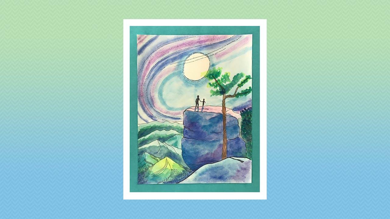 Watercolor Moon - Grades 5-6