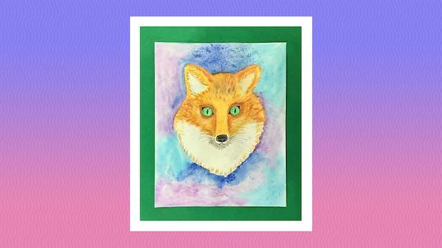 Watercolor Fox - Grades 5-6