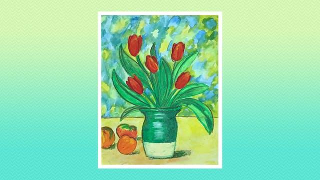 Cezanne Inspired Tulips - Grades 3-4