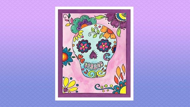 Dia de los Muertos Sugar Skull - Grad...
