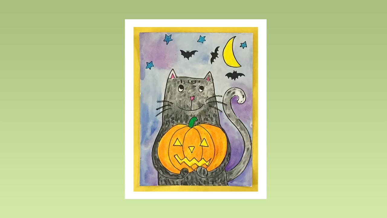 Halloween Cat - Grades K-2