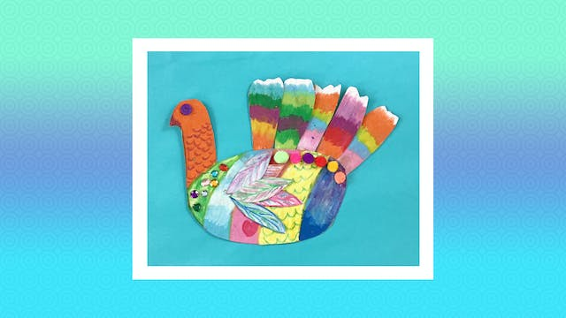 Cardboard Rainbow Turkey - Grades K-2
