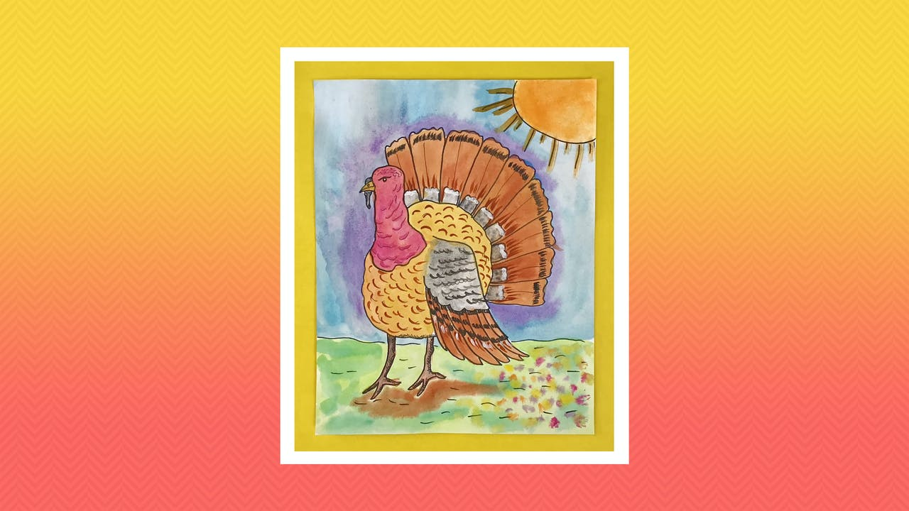 Watercolor Turkey - Grades 3-4