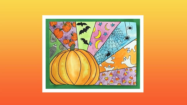 Spooky Halloween Pumpkin - Grades 3-4
