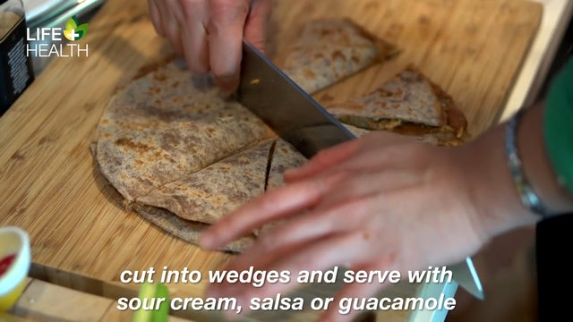 Bean and Green Chile Quesadillas