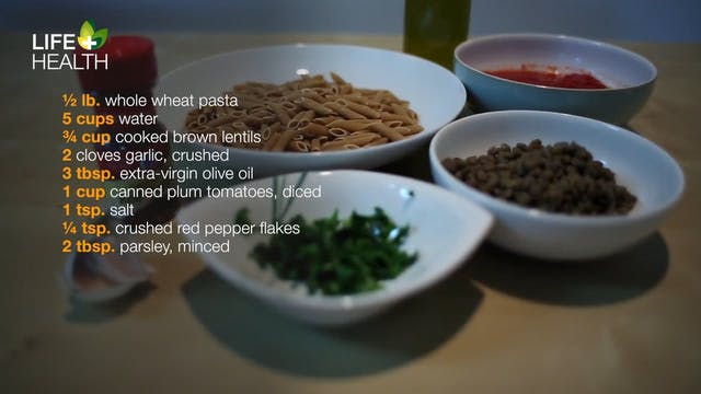 Sicilian Tomato-Lentil Pasta