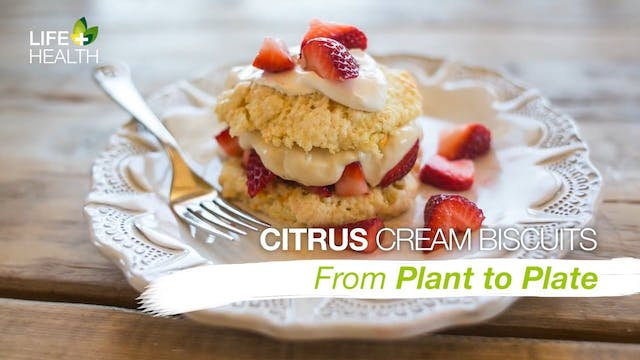 Citrus Cream Biscuits