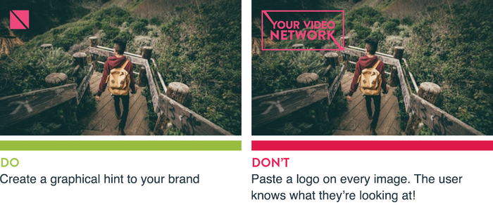 Do hint to your logo in images. Don't Paste a logo on every image.