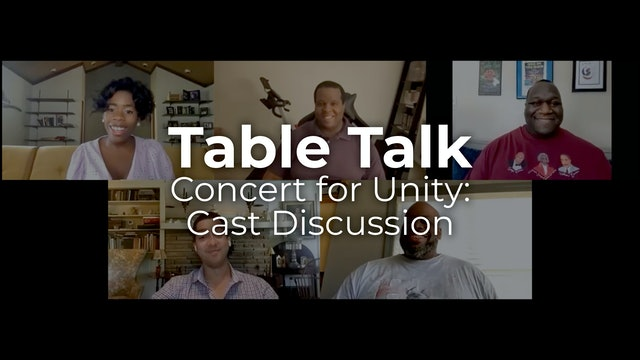 Table Talk: Concert for Unity