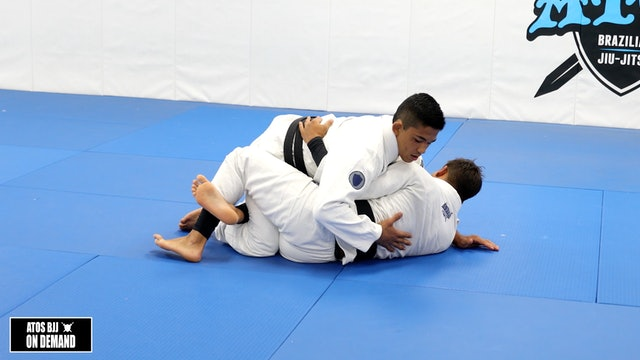 Passing Half Guard to Mount When Opponent Has Underhook