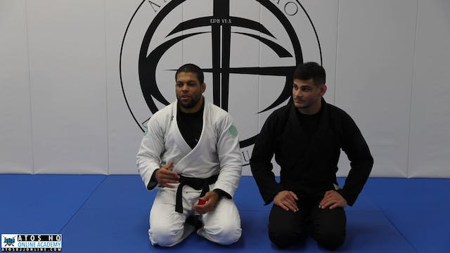 One Hand Choke Counter Against Over Under Pass