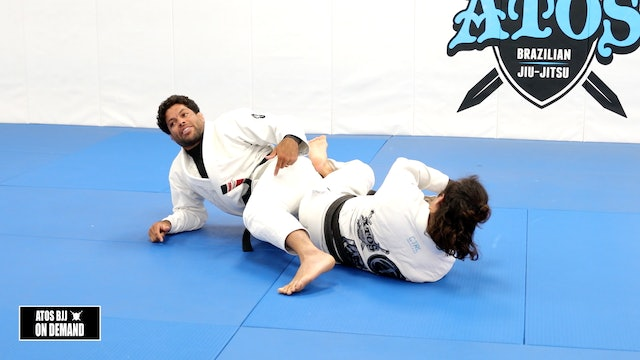 Knee Bar Defense Concepts With an Option to Back Take Using the Pretzelbolo