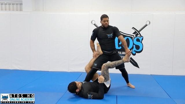 Foot Lock Attacks From Top X Guard